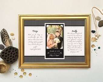Wedding Vows Framed, 1st Anniversary Gift, First Anniversary, Wedding Song, Gift For Him, Vow Renewal, Frames