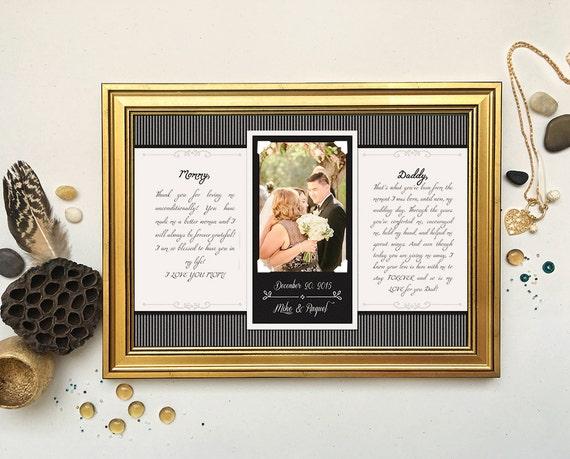 Wedding Vows Gift: Wedding Vow Art Framed Wedding Vows Wedding Vow Keepsake