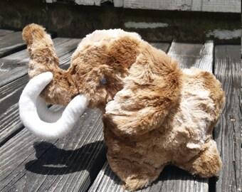 Wooly Mammoth Plush, Mammoth Stuffed Animal, Stuffed Mammoth
