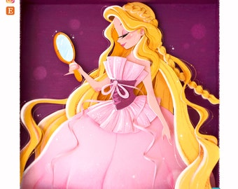 Rapunzel Designer Doll + Bookmark · Fine Art Print