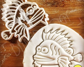 Lionfish cookie cutter | biscuit biscuits cutters | zebrafish | pterois | fish | fishes | one of a kind ooak | Bakerlogy