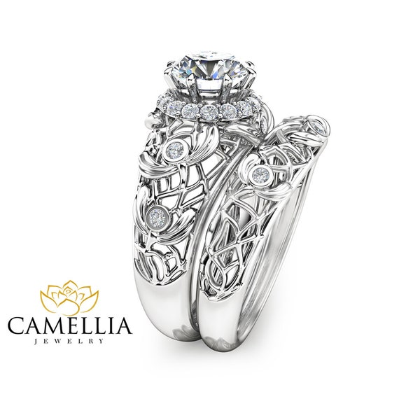 forever brilliant moissanite engagement ring set unique
