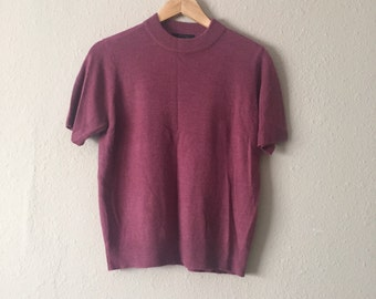 Plum Sweater Top