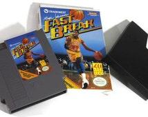 Magic Johnson's Fast Break Nintendo NES (1989) Retro Video Game Cartridge: Los Angeles Lakers Basketball Legend Star Player Sports Fan Gift!
