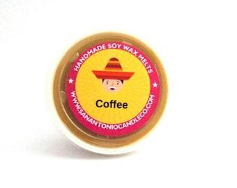 Coffee Wax Melt, Scented Soy Wax, Soy Wax Favor , Coffee Wax Shot, Briadal Shower Favor