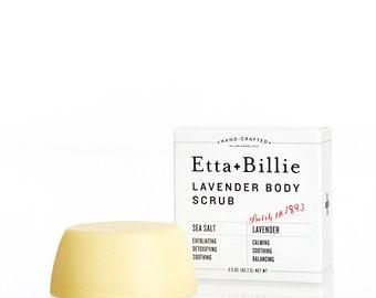 Lavender Natural Exfoliating Scrub Bar Organic Ingredients