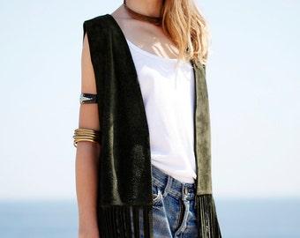 Jimi Leather Vest