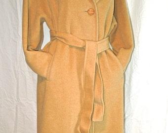 Luxurious Camel Hair Wrap Coat