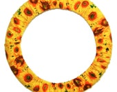 Sunflowers Steering Wheel Cover-Car Accessory for Women-Car Wheel Cover-Flower Accessory-Car Decor