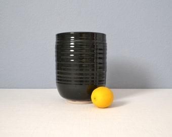 Vintage Mid Century Modern Studio Art Pottery Vase - Signed