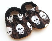 LAST 2 PAIRS // skull shoes toddler skull shoes black and white skull slippers vegan toddler shoes vegan baby black shoes baby boy