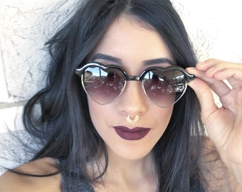Heart Sunglasses / Heart Sunnies / 90s Sunglasses / Lana Del Rey Sunglasses/ Pastel Goth / Pastel Grunge / Heart Glasses / Lolita Sunglasses