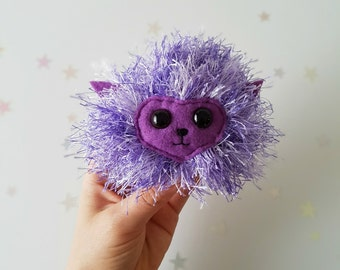 Purple Pygmy Puff, MADE TO ORDER, Ginny Weasley Cosplay Pet, Harry Potter Toy, Arnold the Pygmy Puff, Luna Lovegood, Weasleys Wizard Wheezes