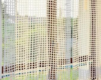 Curtain Crocheted curtain Crochet curtain