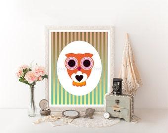 Owl Decor Digital Download, Owl Printable, Owl Decor Download Print, Owl Decor, Nursery Owl, Nursery Decor, Owl Printable Owl Owl Print 0098