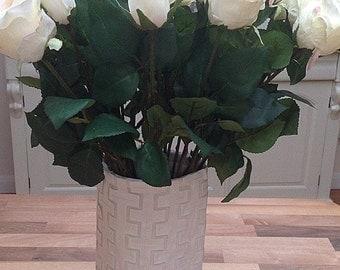 Fabric Vase, Cream Vase, Foldable Vase, Gift to Post, Holiday Vase, mothers day
