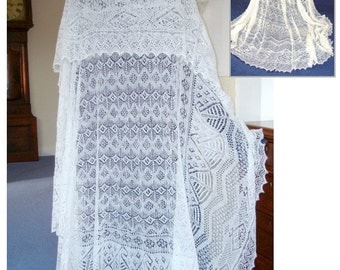The Queen Ring Shawl ~ Heirloom Knitting pdf ~ Shetland Lace ~ Sharon Miller