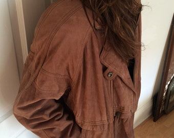 Vintage 1990s Ultra-Soft Suede Leather Jacket