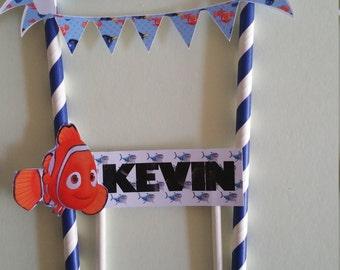 Nemo Birthday Cake Topper, personalized cake topper