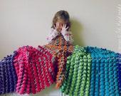 Crochet Pattern Blanket crochet PDF -  Crisol colorful reversible unique stitch - photo tutorial - Instant DOWNLOAD