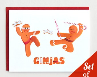 """Holiday Cards - """"Ginjas"""" - Set of 6 Cards"""