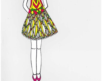 coloring-coloring, doll cut-out paper doll