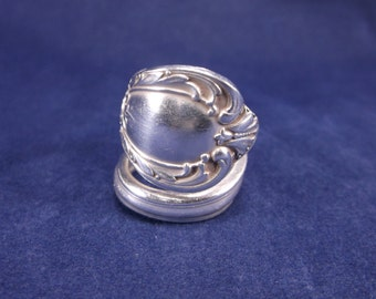 "FREE SHIPPING Spoon Ring 1953""Heritage"" Handmade Spoon Jewelry   size 9"