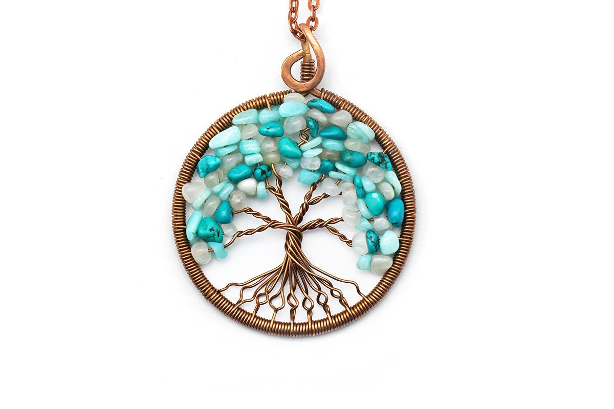 Tree of life necklace pendant tree of life jewelry by for What is the meaning of the tree of life jewelry