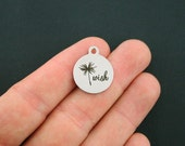 Wish Stainless Steel Charm - Dandelion Charm - Exclusive Line - Quantity Options - BFS1163