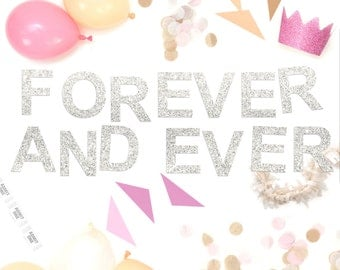 Forever And Ever Glitter Garland