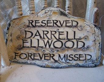 Loving Memory Plaque,Custom Orders, Preserve Precious Memories, Handmade Original Pierced Tin Painted