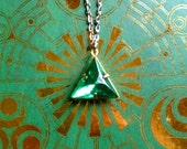 GOING OUT of BUSINESS--50% off Legend of Zelda-inspired Triforce of Courage necklace