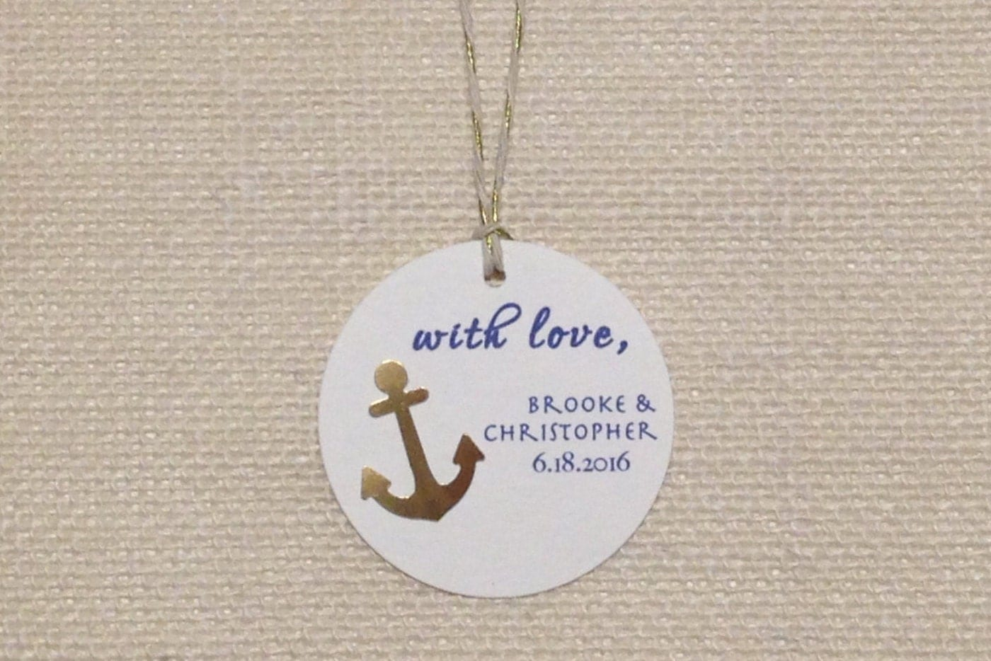 Nautical Wedding Gift Tags : Anchor Favor Tags Nautical Wedding Tags Navy Gold Wedding
