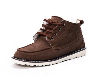 Men sheepskin boots
