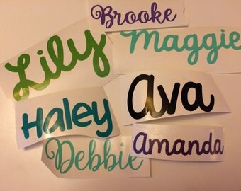 Personalized, name, monograms decal, stickers, DIY labels