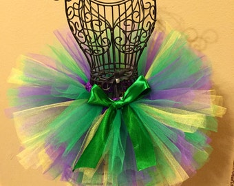 Mardi Gras Tutu, Mardi Gras, Holiday Tutu, Birthday Tutu, Newborn Tutu, Baby Tutu, Toddler Tutu, Green Tutu, Photo Prop