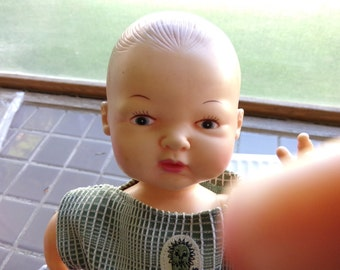 Horsman Baby Doll Drink & Wet from 1977, Vintage Nursery Décor, Numbered Horsman Doll