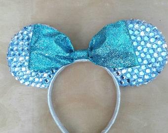 Frozen Themed Bedazzled Ears