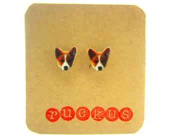 Corgi Stud Earrings, Corgi Jewelry, Dog Jewelry, Dog Earrings, Post Earrings, Corgi Gift, Dog Gift, Dog Breed, Dog Lover, Pet Jewelry