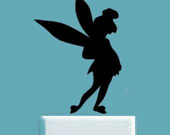 Tinker bell decal, Wall decal, Disney characters, FREE SHIPPING,  laptop decal, vinyl decal, light switch decor, kids room decor #252