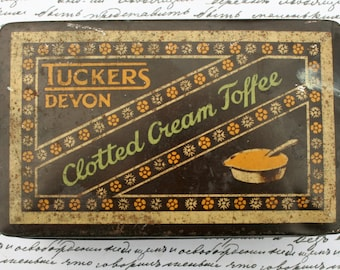 Handsome Tucker's Clotted Cream Toffee tin