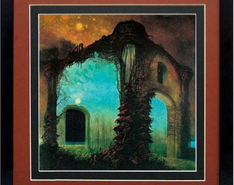Framed Beksinski Art Poster Surreal Landscape