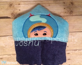Team Umizoomi Geo Inspired Hooded Towel/Baby/Kids/Adult/Baby Shower/Birthday/Christmas/Gift/Bath/Pool/Towel/Party/Favor/Theme/Ideas