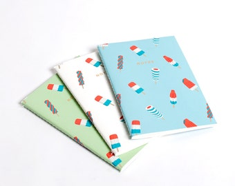 Popsicle Ice Cream Notebook Journal Diary Set