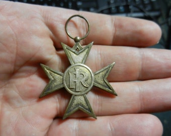 Vintage WW1 Italian 25 Year Military Service Cross