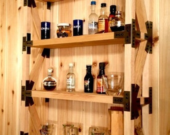 Handcrafted Wood Truss Display Shelf With Steel Gusset Plates, Wall Hanging, CD/DVD, Collectables, Spice Rack