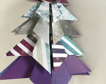 Handmade paper Christmas tree, Christmas ornament, origami ornament