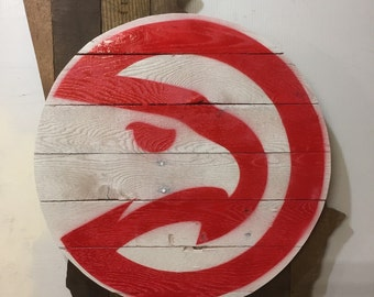 Atlanta Hawks Basketball Logo on the state of Georgia