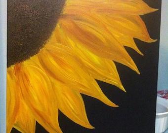 Sunflower Oil Painting Canvas Art