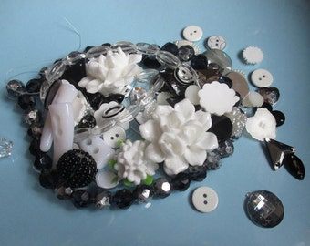 Black and white Decoden / embellishment bundle